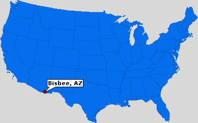 Bisbee, Arizona map