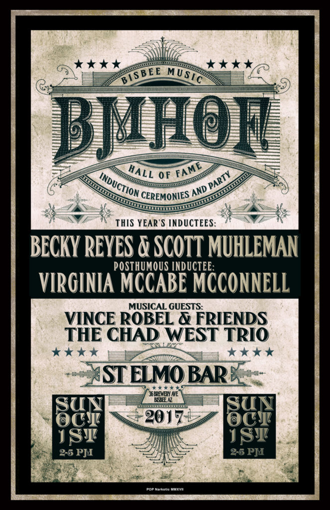 Bisbee Music Hall of Fame 2017 Poster