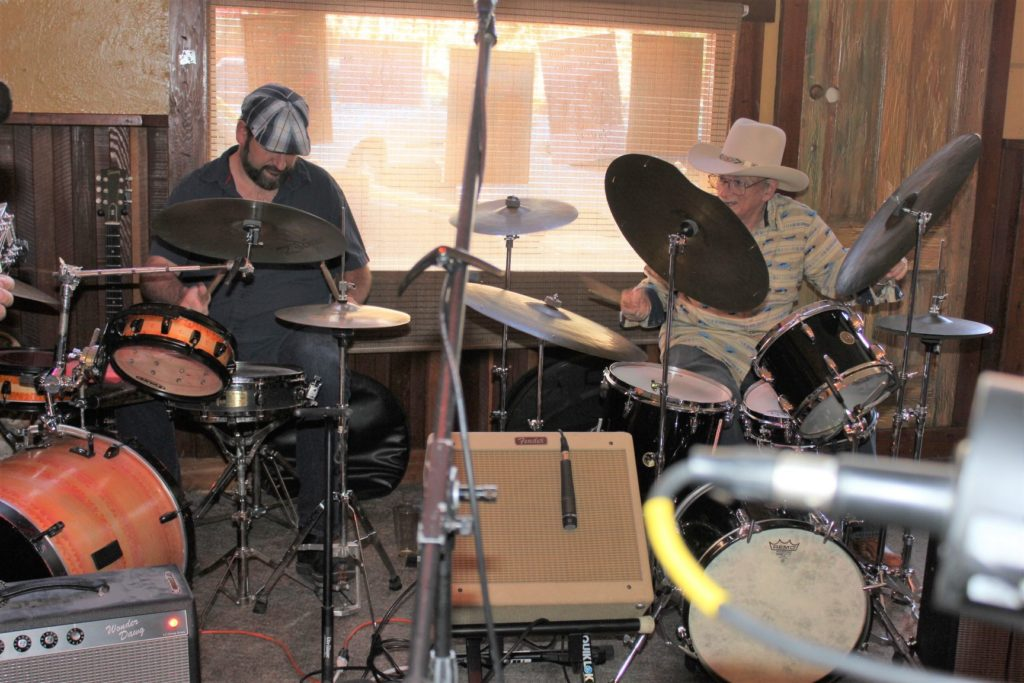 Sam Panther and Charlie Gahn on the drums.